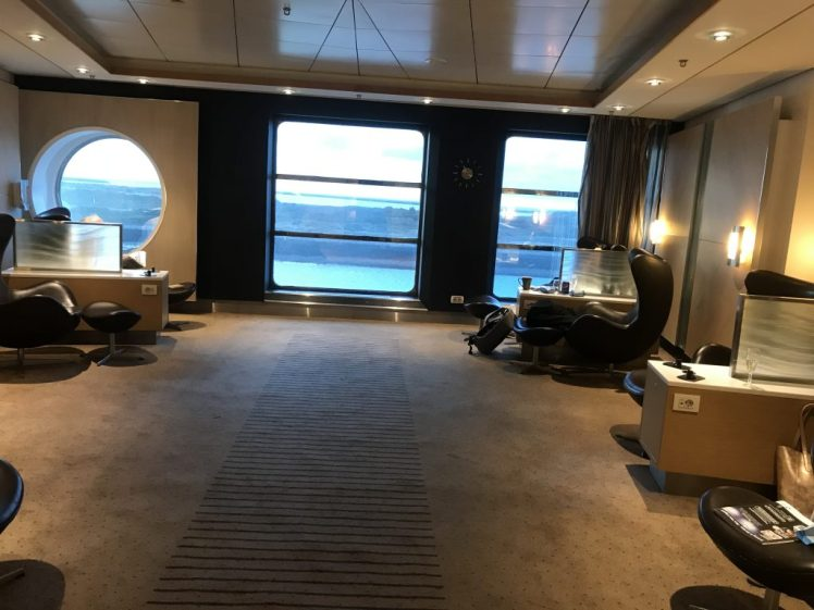 The lounge inside the Premium Lounge on board the DFDS