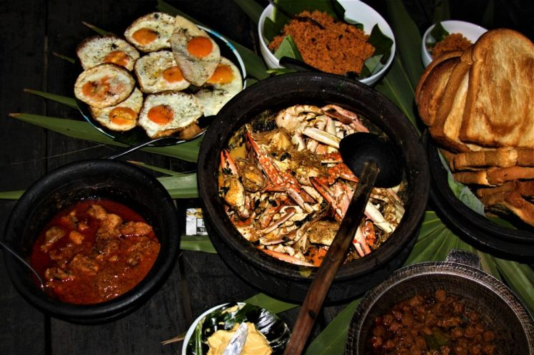 crab curry, eggs, toast, and pol sambol just some of the staple foods of Sri Lanka