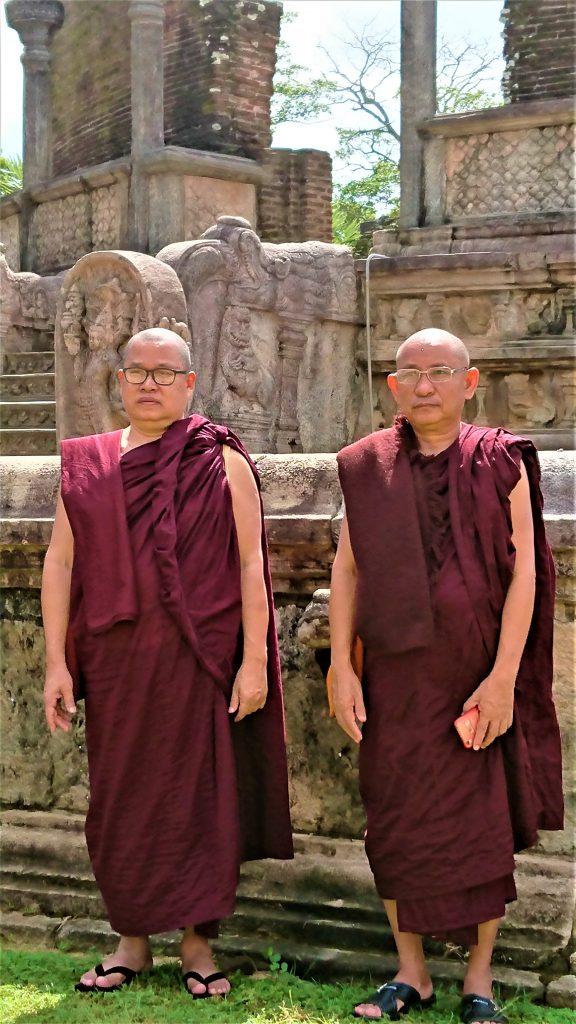 Monks in Polonnaruwa