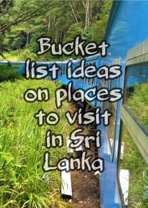 Bucket List of Places to Visit in Sri Lanka