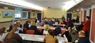The February 11th meeting of the Beverly Community Council was held in the Library