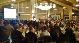 A packed house attended the annual Greater Beverly Chamber business awards banquet