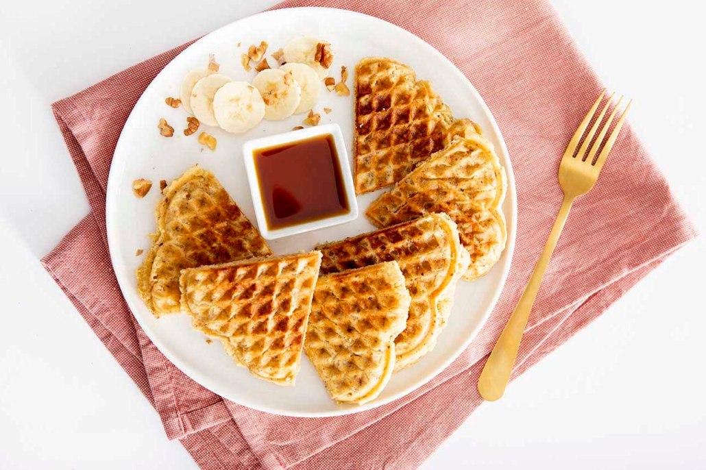 vegan recept om wafels te bakken