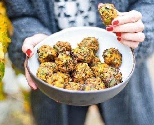 recept vegan balletjes met linzen en zoete aardappel