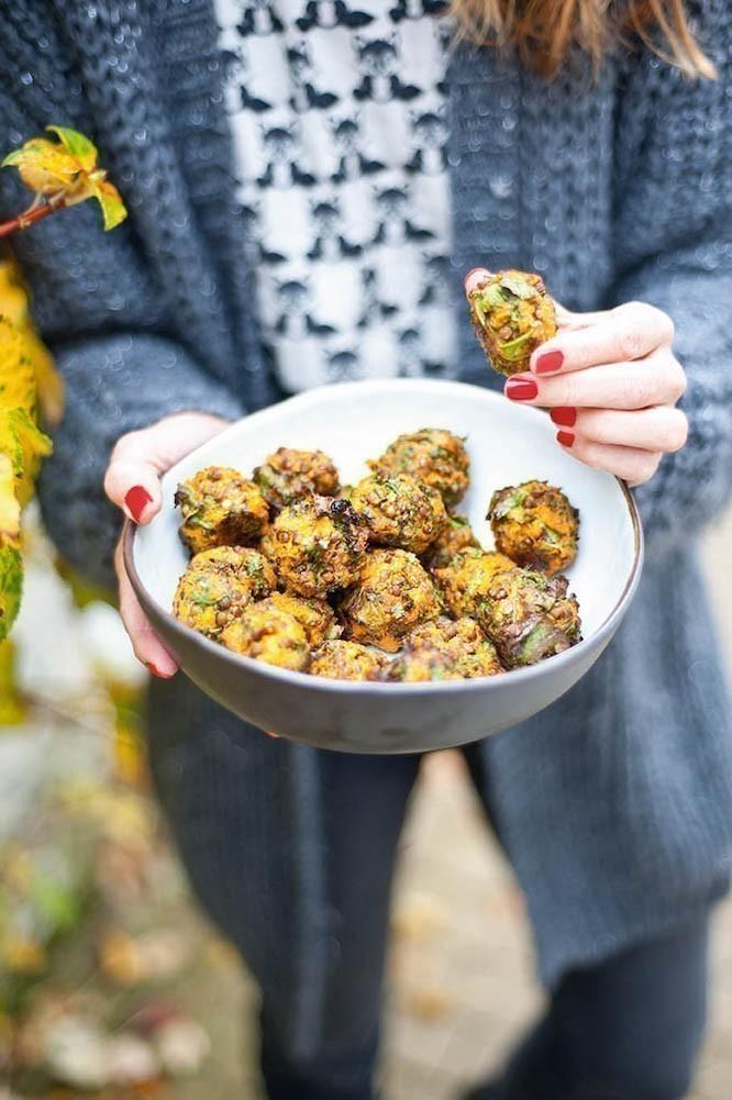 recette végane boulettes aux lentilles et patates douces
