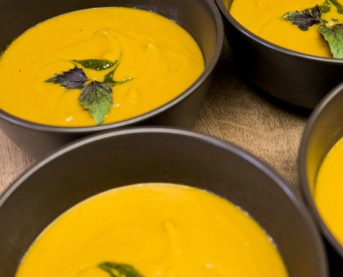 soep van geroosterde groenten uit de oven