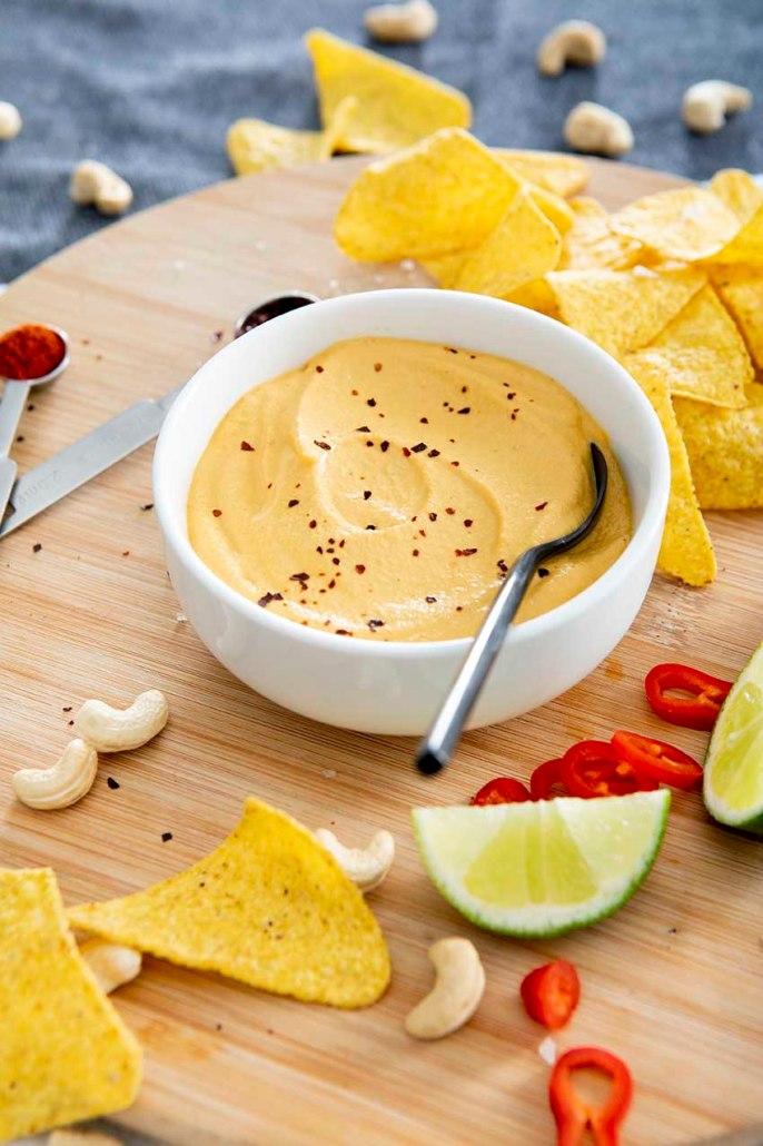 recette trempette au fromage végétale