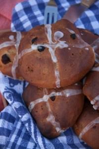recette végane hot cross buns
