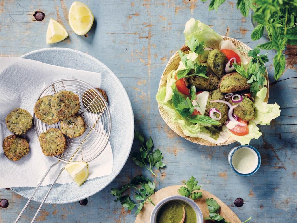 recette végétalienne falafels aux herbes fraîches
