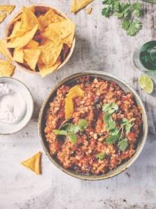 recette végétalienne chili con carne
