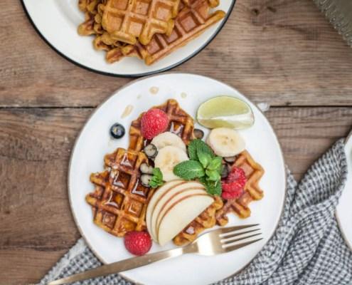 recept vegan wafels met zoete aardappel