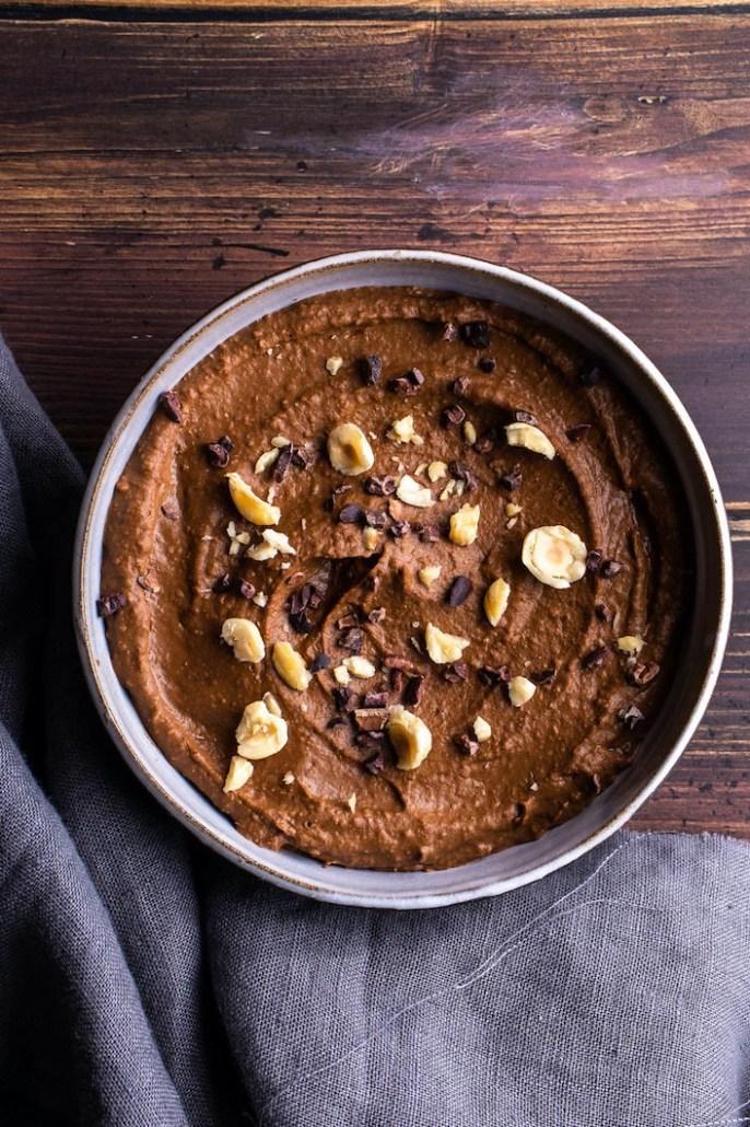 recept vegan hummus met chocolade