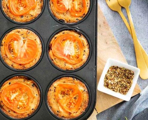 recept veganistische miniquiche met tomaat