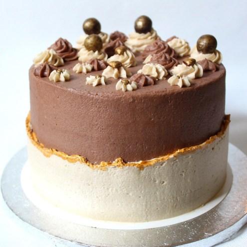 vegan taart met chocolade en mokka kopen