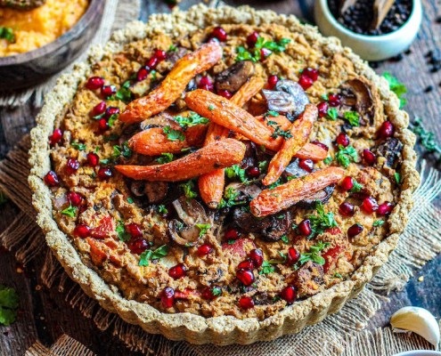 recept vegan en glutenvrije quiche