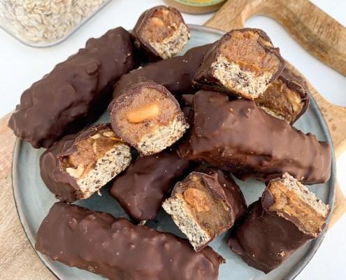 recept snickers met pinda