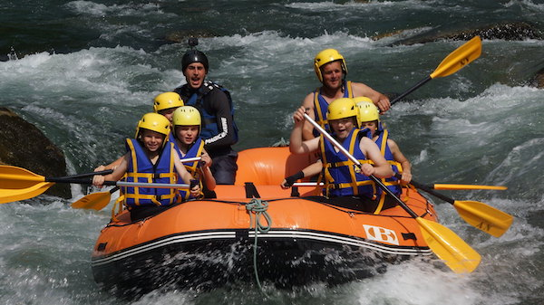 whitewater rafting in morzine