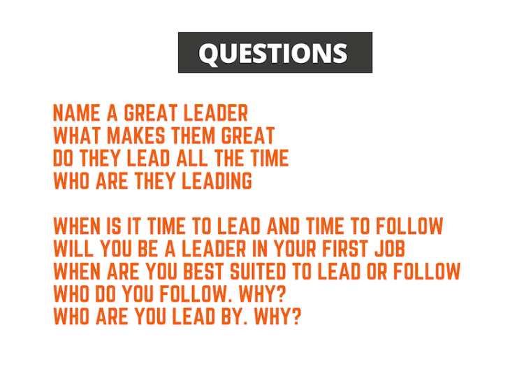 questions on Leadership & followership