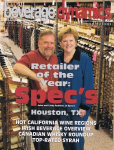 John and Lindy Rydman in 2007, when Spec's was named the Beverage Dynamics Retailer of the Year. They can be seen at the top of the page with their daughter Lisa, photographed in 2015.