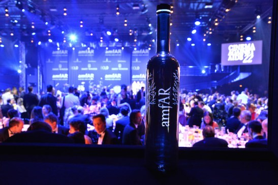 amfAR Cannes personalized Silver Saber bottle 3