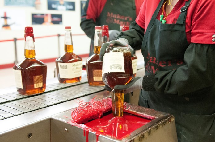 All bottles of Maker's Mark have been hand-dipped from the beginning.