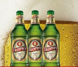 Trophy Lager beer