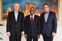 Coca-Cola CEO James Quincey meets with Aliko Dangote in Nigeria