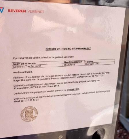 Bericht Ontruiming Grafmonumenten Kerkhof Doel