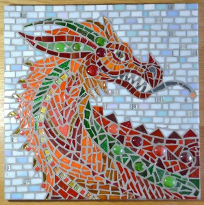 Red Dragon Mosaic