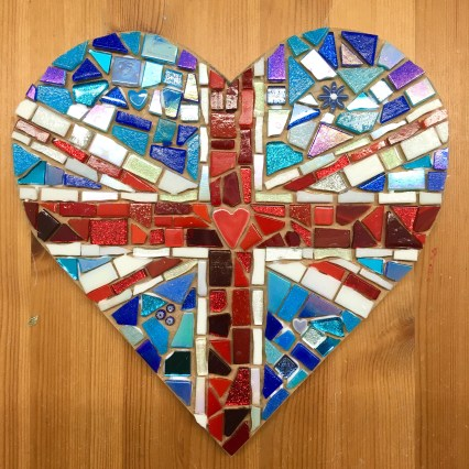 Union Jack Mosaic Hearts