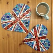 Union Jack Mosaic Hearts and teacup