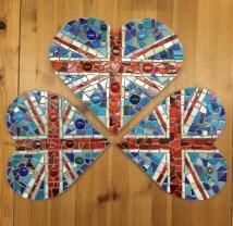 Union Jack Mosaic Hearts