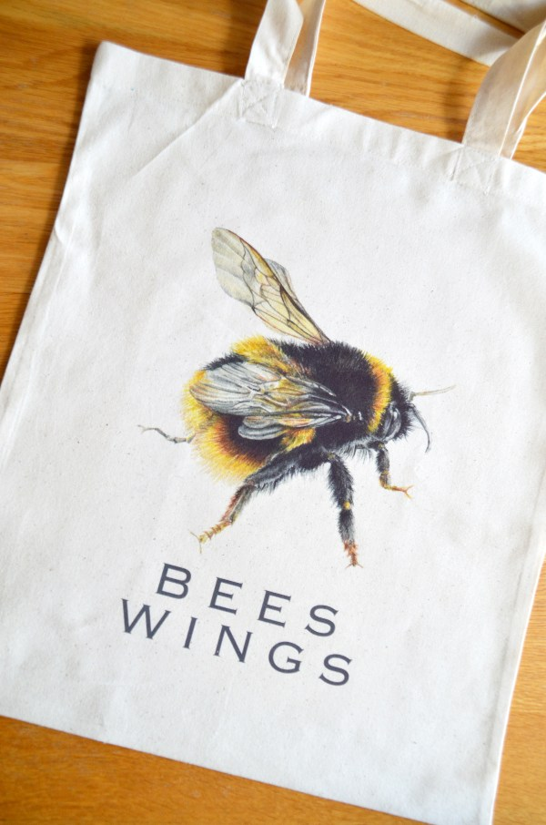 Bumble Bee wings cotton tote bag