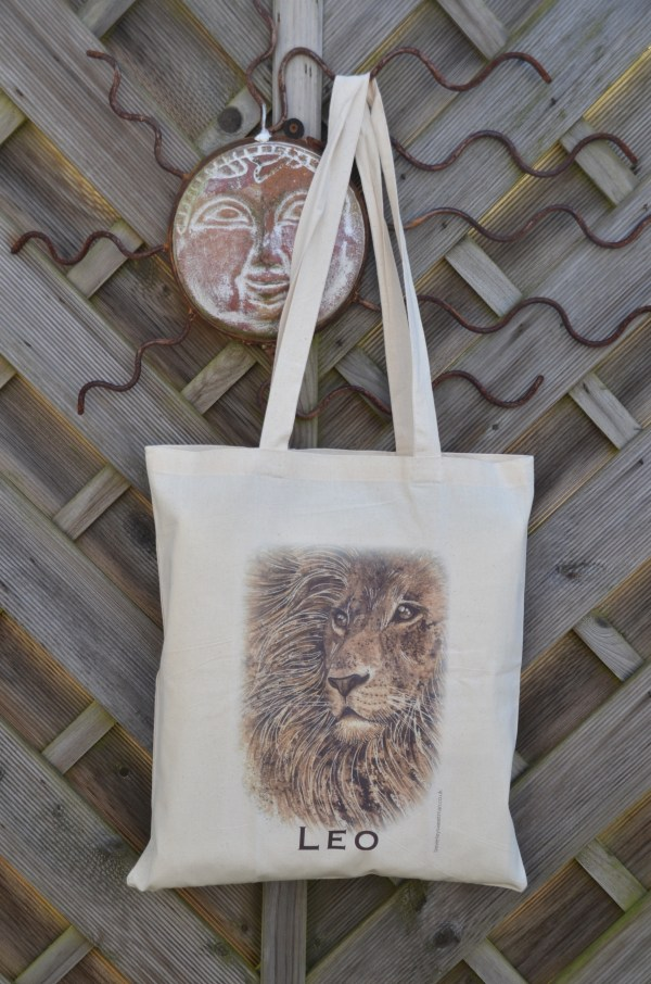 Leo lion cotton tote bag