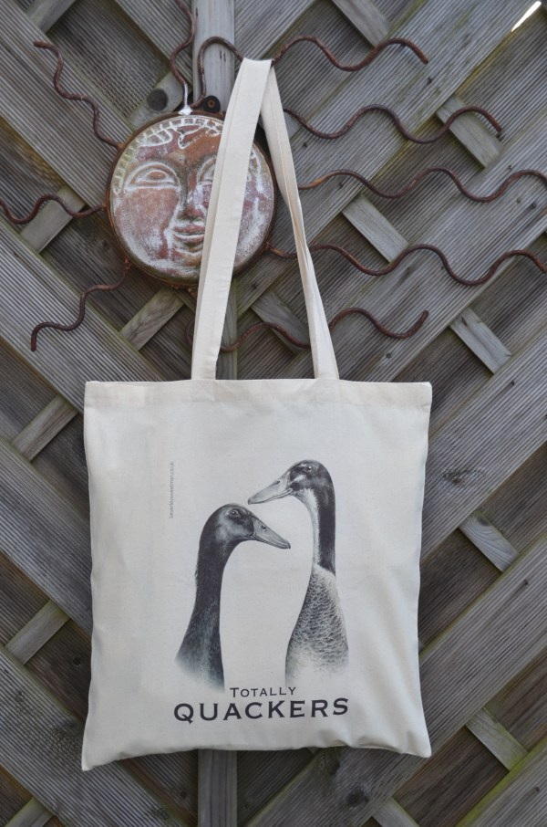 Runner ducks cotton tote bag