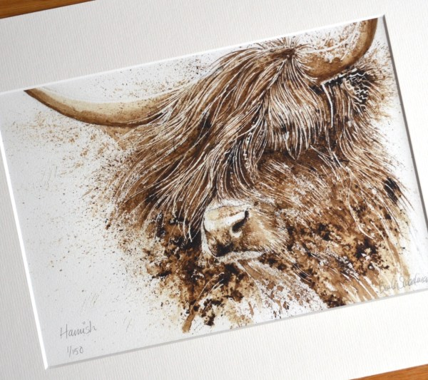 Highland cow watercolour painting limited edition print