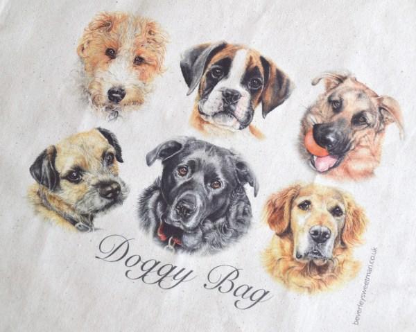 Doggy bag cotton tote bag