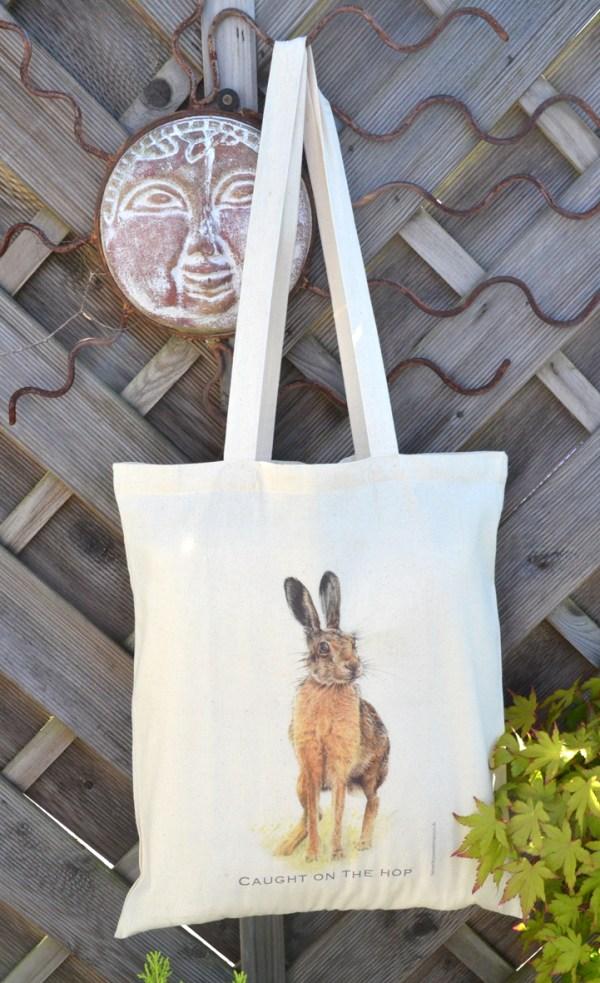 Hare cotton tote bag