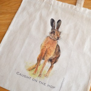 Hare cotton tote bag