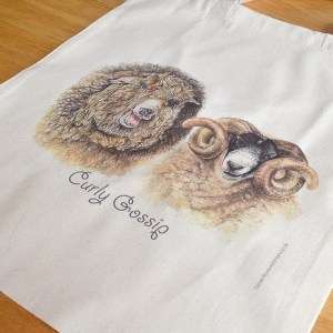 Rare breed sheep cotton tote bag