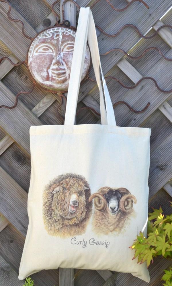 Rare breed sheep cotton tote bag