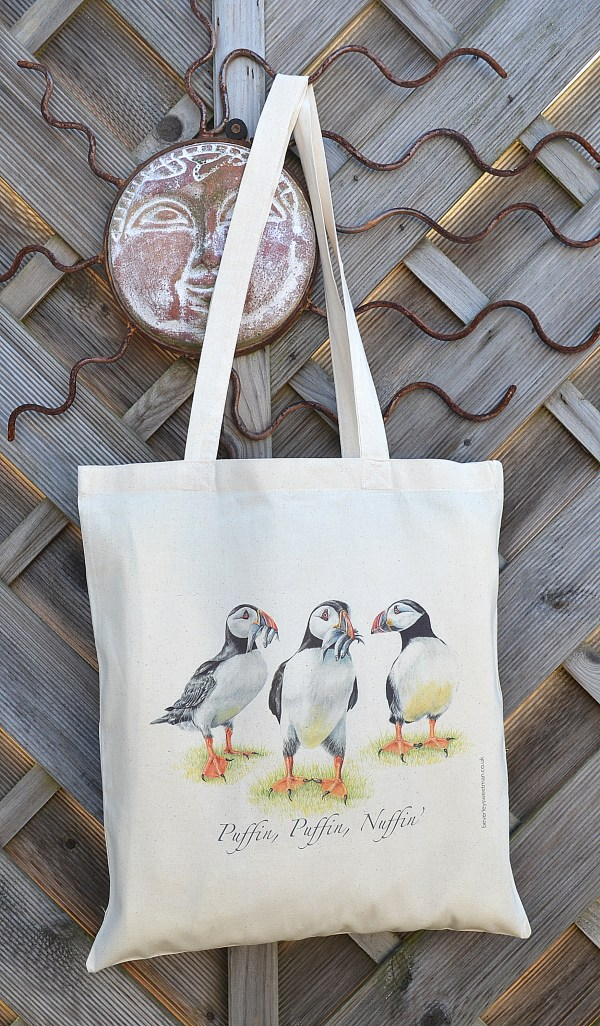 Puffins Cotton Tote Bag
