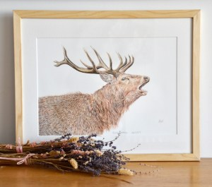 red-stag-painting