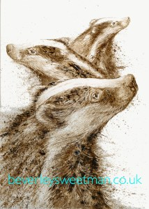 badgers-painting