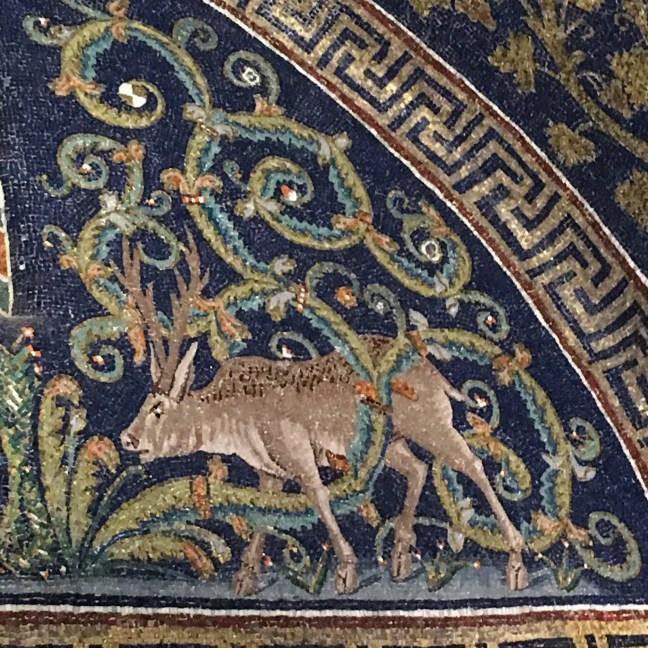 Ravenna deer mosaic