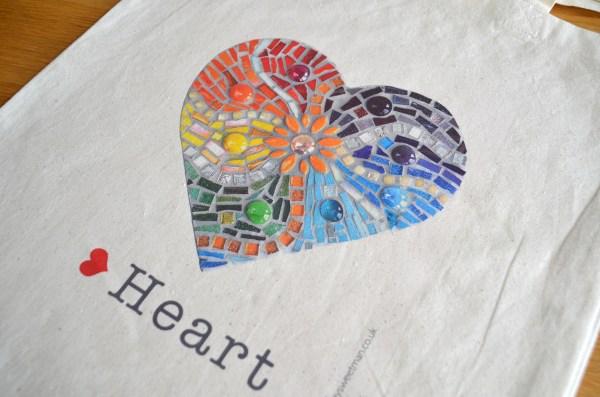 Rainbow heart bag 4