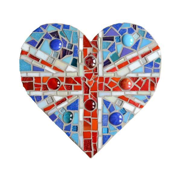 Union Jack Mosaic Heart