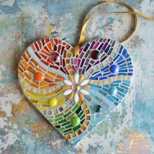 Rainbow Heart Mosaic