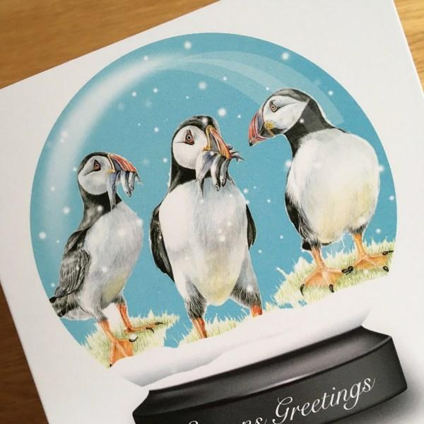 snowglobe-card-puffins