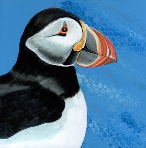 Puffin Acrylic Painting